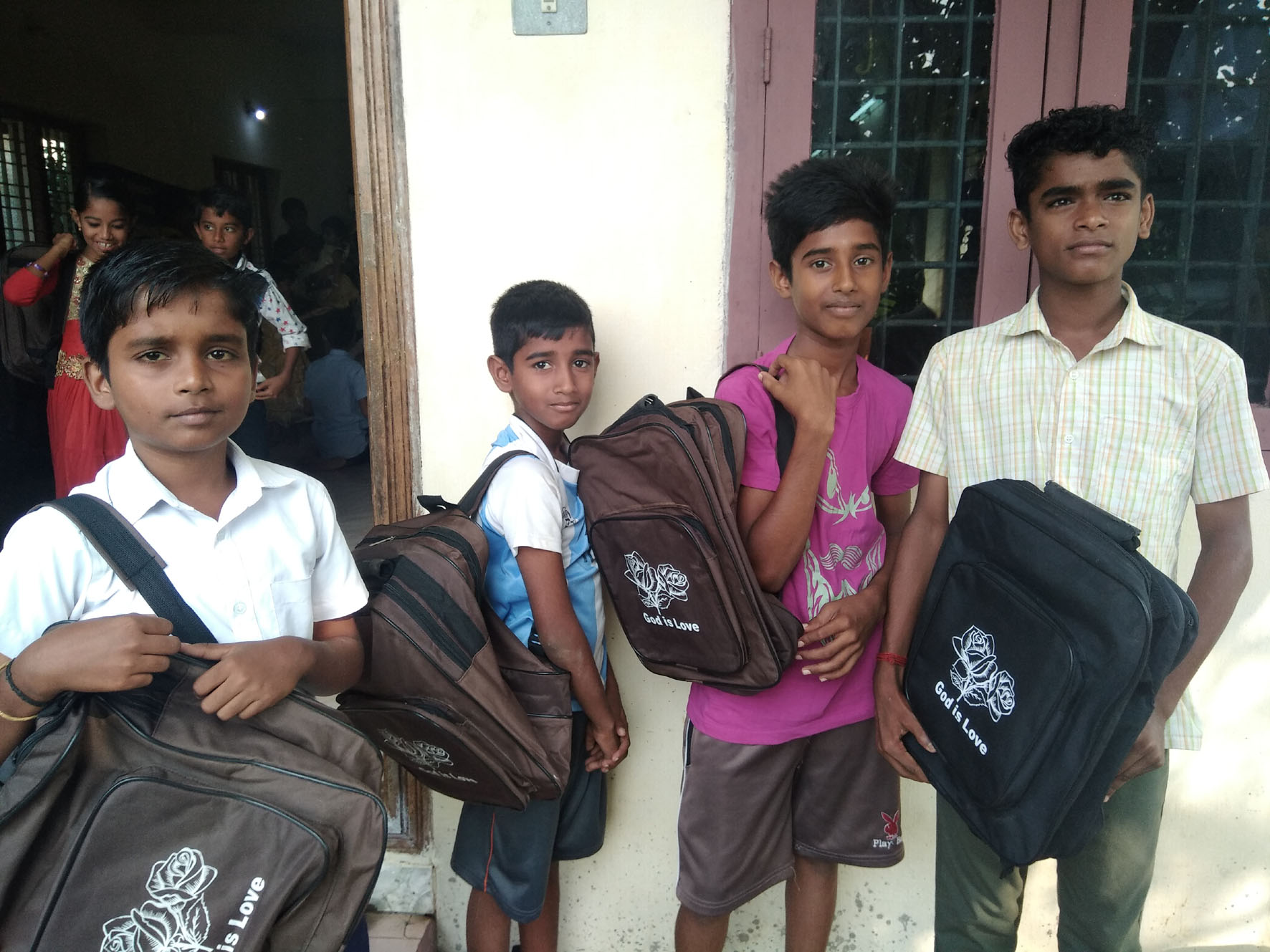 distribution of eductional materials to school children (4)