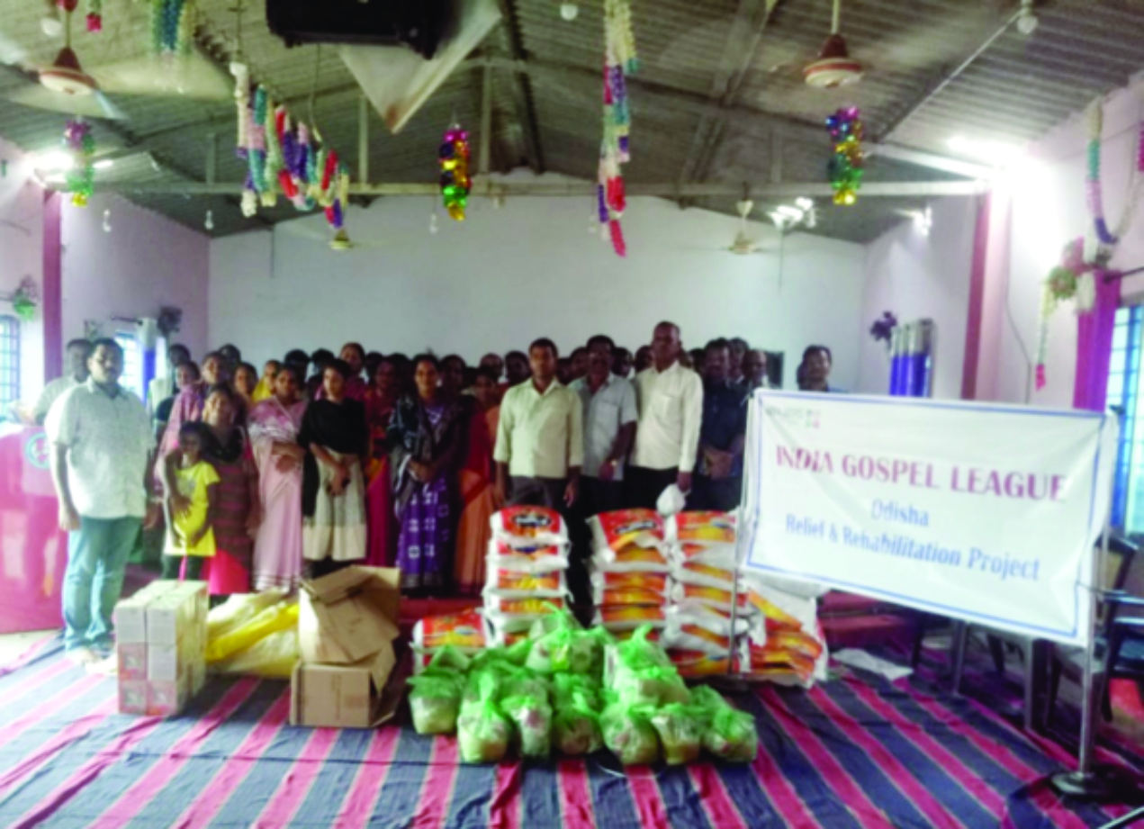 Relief received by the victims of Cyclone Fani.
