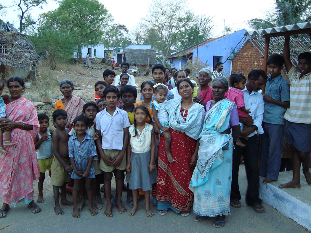 group of villagers